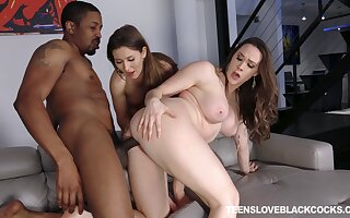 Black dick FFM triple-date for darlings Chanel Preston and Paige Owens